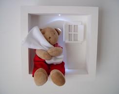 (MO 0209) Quadro maternidade urso c/led