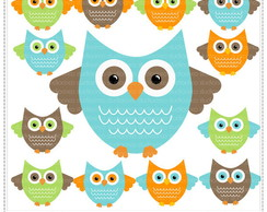 Cute Owls Vol 3 Clipart Digital