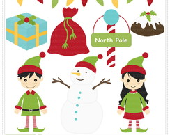 Santa's Helpers Vol 1 Clipart Digital