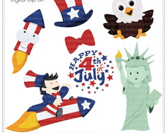 4th of July Clipart Digital