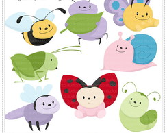 Chubby Insects Clipart Digital