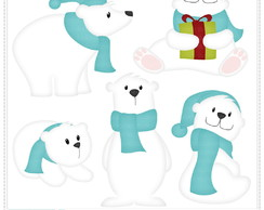 Polar Bear [Blue] Clipart Digital