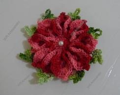 Flor de croch� vermelha