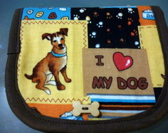 "Carteira  "" I ♥ my dog"""