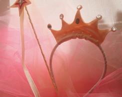 Kit lembran�a tiara Princesa e varinha