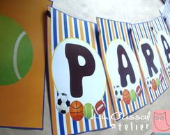 Bandeirolas PARAB�NS (A4)