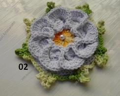 Flor de croch� segredo fechada