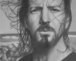 Desenho Eddie Vedder - Pearl Jam
