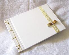 Livro De Assinaturas P Casamento branco