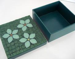 Caixa - Flores Verdes