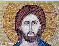 "Mosaico de Vidro �cone ""Cristo Pantocra"""
