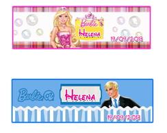 Rotulo para  papinha Barbie Princesas.