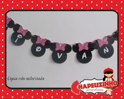Varal Letras Minnie