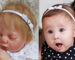 Faixa beb� BATIZADO la�o,p�rolas&strass
