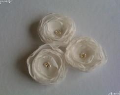 Trio flores ivory para noivas