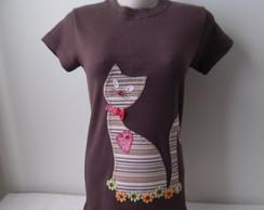 Camiseta - Gato charmoso