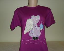 Camiseta Baby Look - Anjo Sunbonnet