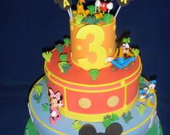 Caixa de Bolo Casa do Mickey
