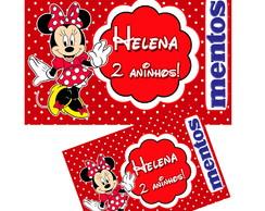 Rotulo personalizado para mentos Minnie.