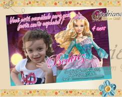 Convite Barbie Princesa azul