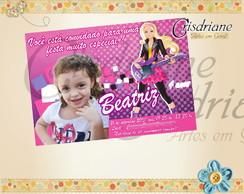 Convite Barbie Pop