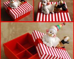 Caixinha com tecido para doces - CIRCO
