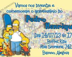 Convite Simpsons