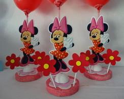 Enfeite de mesa da Minnie com 10