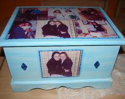 Arca azul com fotos