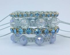 Kit pulseiras aquamarine