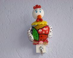 sup. pano de prato de galinha colorida
