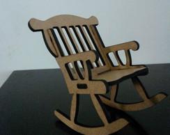 Cadeira de balan�o mdf