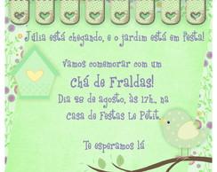 Convite Ch� De Fraldas