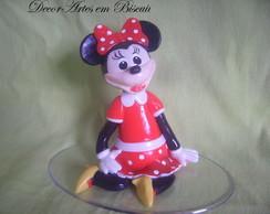 Topo De Bolo Minie Vermelha sentada