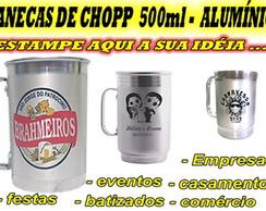 CANECA DE CHOPP DE ALUM�NIO - 500 ML