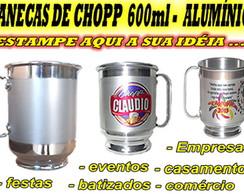 CANECA DE CHOPP DE ALUM�NIO PERSONALIZAD