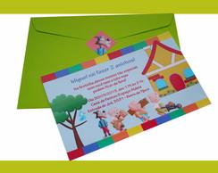 """Convite """"Tr�s Porquinhos"""""""
