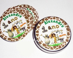 R�tulo para Latinha Madagascar
