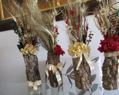 Quarteto de flores secas desidratadas I