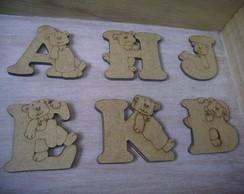 alfabeto completo com ursinhos