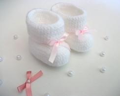 Botinha L�  'branca& rosa cetim'
