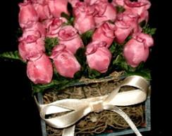 Cachepot de vidro com Flores Arom�ticas