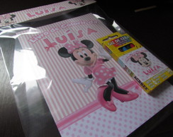 Kit Para Colorir - Minnie Rosa