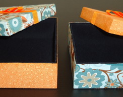 Conjunto Porta-J�ia - 16x16 e 14x14 cm