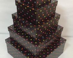 Caixas para presente- kit com 5 tamanhos