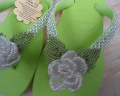 chinelo havaiana top na cor verde