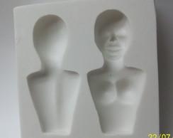 Molde de silicone (cabe�a e busto)