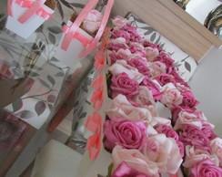 Kit topiaras & vasinhos rosa chiclete