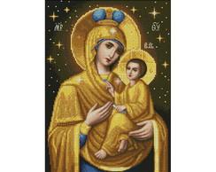 Ponto Cruz em PDF - Maria e Jesus Menino