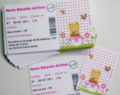 Convite Jardim Encantado Ticket